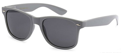 Sunglasses Classic 80's Vintage Style Design (Gray) - 1950s Glasses Mens