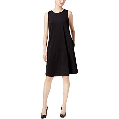 Kasper Women's Solid Swing Dress, Black L from Kasper