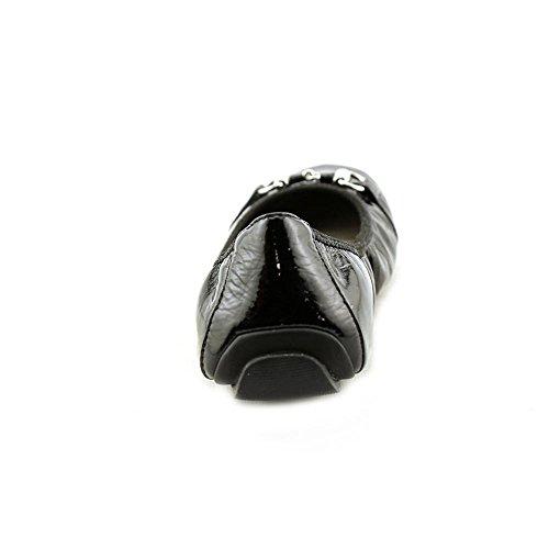 Ik Ook Dames Jady Platform Sandaal Zwart Nappaleder / Emaille Bit