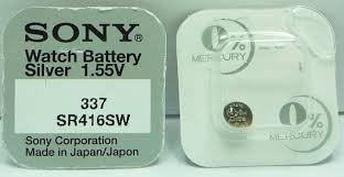 Sony 337 (SR416SW) 1.55V Silver Oxide 0%Hg Mercury Free Watch Battery (1 Battery)