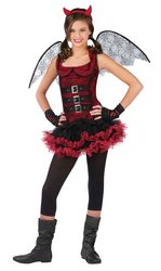 [Night Wing Devil Red Ch 12-14] (Kids Halloween Devil Costumes)