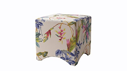 Jennifer Taylor Home Isaac Accent Cube, Purple Beige