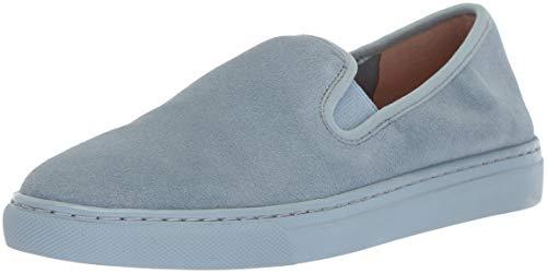 Amazon Brand - 206 Collective Women's Cooper Perforated Slip-on Fashion Sneaker, Denim Blue Suede, 8 B US (Best Designer Sneaker Brands)