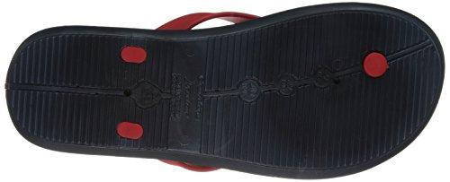 Rider Mens R1 Rider Thong Sandal Blue/Red 7SCUOEsLd