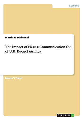 The Impact of PR as a Communication Tool of U.K. Budget Airlines