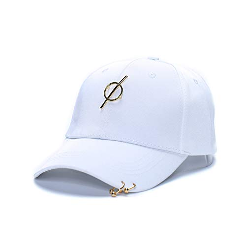 2019 Snapback Curved Brim Eaves Baseball Cap Metal Pendant Peaked Cap Women Hats