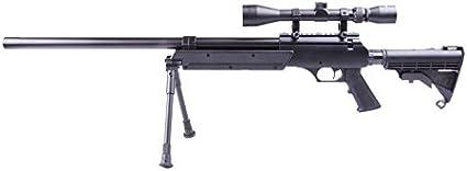 Well Airsoft MB06B Sniper a muella (Spring) Negra Calibre 6mm. Potencia 0,5 Julios con accessorios