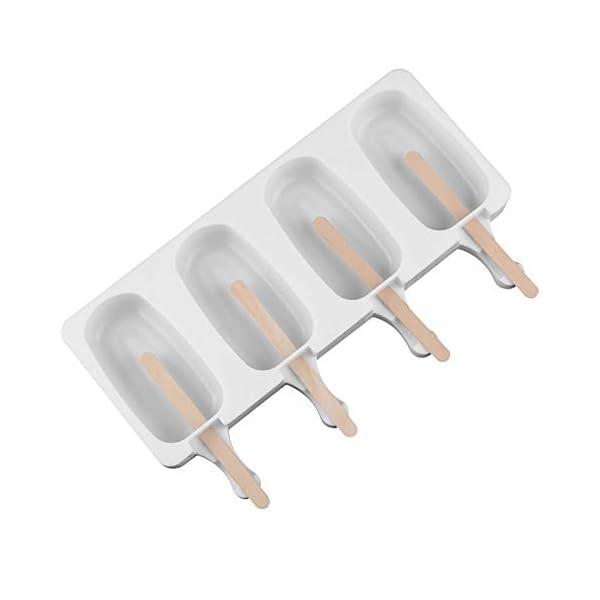 Wisilan - Stampi in gel di silice per gelato con motivo spray, per decorare vaschette del ghiaccio 4.8x9cm White-l 2 spesavip