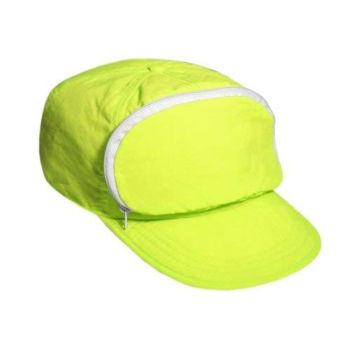 Cap-sac Nylon Cap with Zipper Pocket/Adjustable Closure. Yellow. One Size.]()