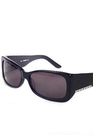 Iceberg Designer Herren Sonnenbrille Schwarz Unisex sunglasses, men retro