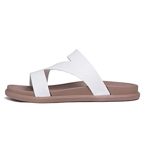 Dimensione donna 37 da alla e uomo uomo Color Nero da shoes Bianca Jiuyue caviglia da Scarpe piatto Cinturino EU gwZxRqY