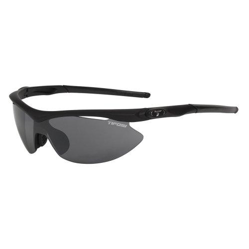 - Tifosi Slip Sunglasses - Asian Fit - Women's Matte Black/Smoke/AC Red/Clear Asian Fit
