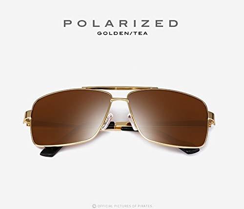 para polarizadas Gafas Sol UV400 Estilo Trend 1 Box Moda de Hombres Metal Gafas recubiertas Gafas Sol Sol de Color de 4 de de de Ruiyue qRZxw7fIf
