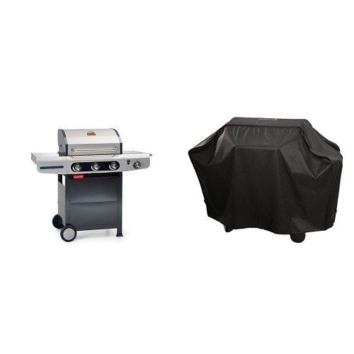 barbecook Gasgrill, Siesta 310, schwarz / grau, 80 x 76 x 52,6 cm, 2239231200 + Abdeckhaube