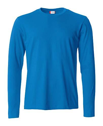 Clique L t Basic Maglia Royal Maniche Lunghe s Lunga Maglietta Manica Uomo shirt T Cotone Zqvf00w
