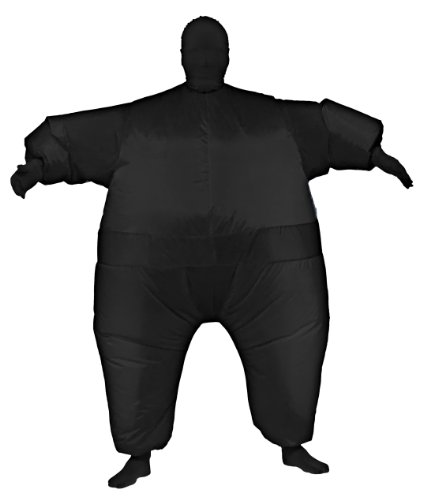 Rubie's Costume Inflatable Full Body Suit Costume, Black, One (Black Inflatable Adult Costumes)