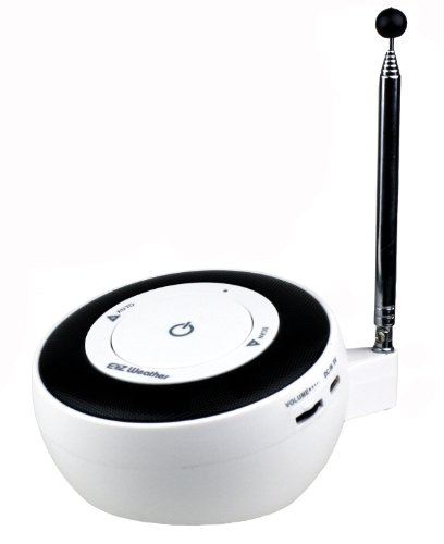 Kaito KA101 EZ-weather One-touch NOAA Weather Radio(White)