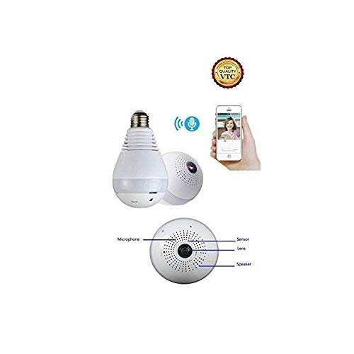 eye IP Wireless WiFi Security Light Bulb Camera LED Baby &Pet Camera with Motion Detection, Two Way Audio, Night Vision ()