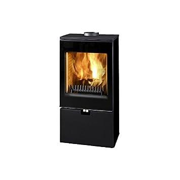 Estufa de leña Thorma de oficina de aire de la habitación de forma independiente de acero de colour negro 8kW: Amazon.es: Bricolaje y herramientas