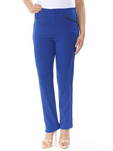 INC International Concepts Women's Straight-Fit Pants Goddess Blue 6