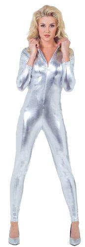 Underwraps Women's Stretch Jumpsuit Spacesuit Funny Theme Halloween