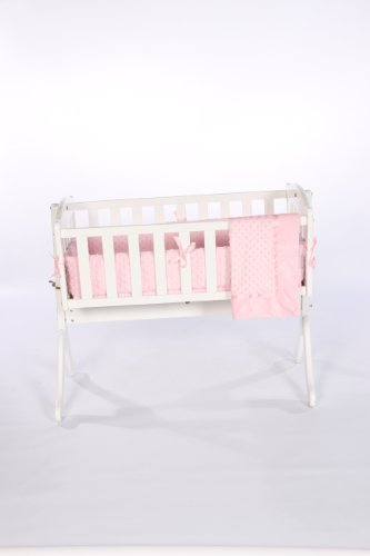 Baby Doll Bedding Heavenly Soft Cradle Set, Pink