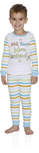 Dr. Seuss Kid, You'll Move Mountains Boys Tight Fit Pajama 2 Piece Sleepwear Set (Multicolor, Large 10/12)