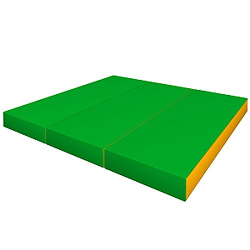 Gymnastics Green Folding Soft Mat for Kids / (60'' X 40'' X 4'') / Playground Indoor Sport Matting / Childrens Large Washable Mats for Home Play / Non Slip Thick Mat / Cheap Foldable Playroom Mat by sportkid