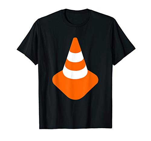 Traffic Cone Shirt Orange Road Cone Funny Costume]()