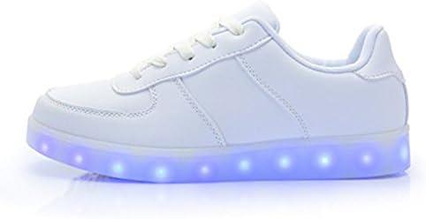 DoGeek Zapatos Led Niñas Deortivos para 7 Color USB Carga LED Luz ...