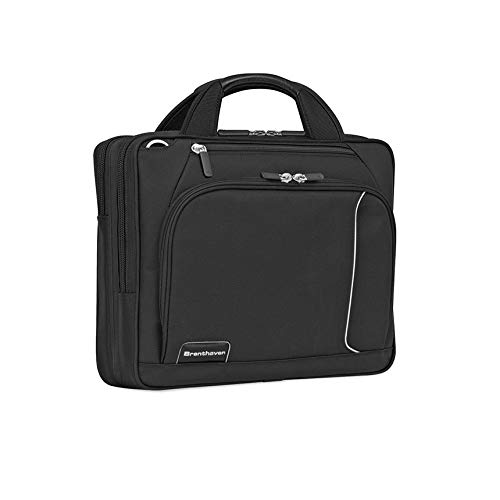 Brenthaven Prostyle Ultralite Shoulder Case Fits 13.3 Inch Chromebooks,Laptops,Tablets for Commercial,Business and Office Essentials-Black,Durable,Rugged Protection from Impact and Compression
