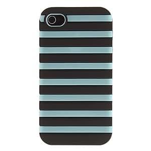 2-in-1 Dise?o Escalera del caso del patr¨®n Negro noctilucentes protector duro con cubierta de silicona interior para iPhone 4/4S (colores surtidos) , Amarillo