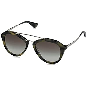 Prada Cinema PR12QS Sunglasses USI0A7-54 - Striped Grey Frame, Grey Gradient