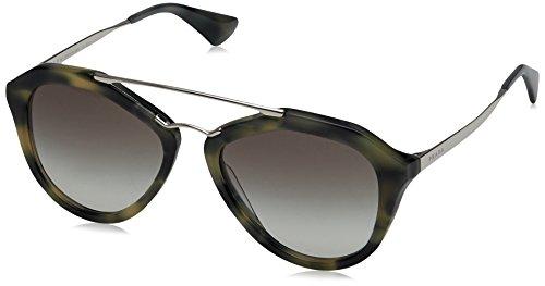 Prada Cinema PR12QS Sunglasses USI0A7-54 - Striped Grey Frame, Grey - Eyewear Cinema Prada