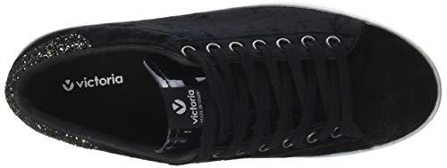 Terciopelo Victoria glitter Deportivo Neronegro Sneaker 10 Donna fg6vbY7y