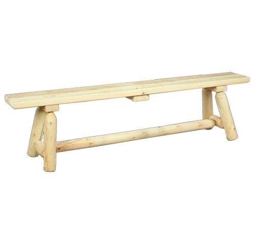 Cedarlooks 030020B Log Straight Bench, 6-Feet - 6 Foot Straight Bench