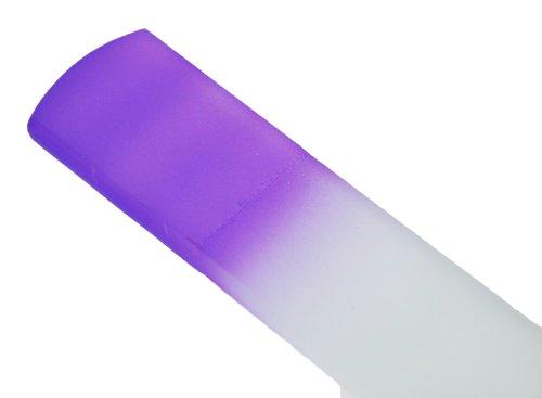Genuine Czech Purple Crystal Glass 6 1/4 inch Spa Bar Slab Foot File by iDiva