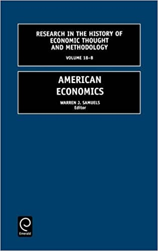 Book American Economics: 18 (Research in the History of Economic Thought and Methodology)