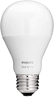 Philips Hue White A19 60W Equivalent Dimmable LED Smart Light Bulbs, Works with Alexa, HomeKit & Google Assistant, (All US Residents)