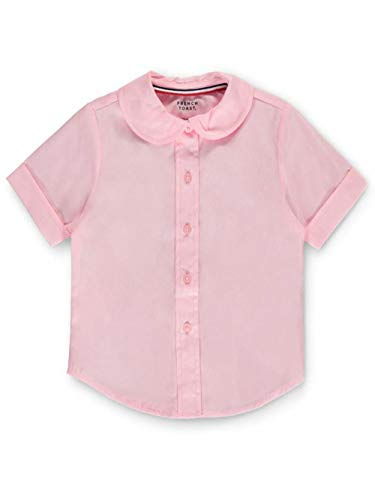French Toast Little Girls' Toddler S/S Peter Pan Fitted Shirt - Pink, 3t