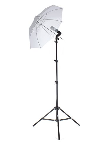 "Fovitec StudioPRO Single 225 Watt Beginner Photography Photo & Studio Continuous Lighting Kit with 33"" Umbrella"