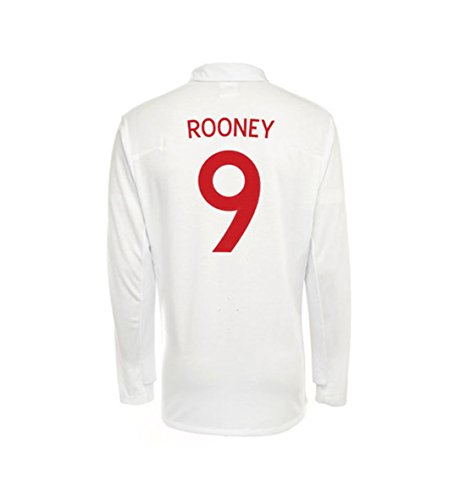 Umbro ROONEY #9 England Home Jersey Long Sleeve (XL) (England Home Long Sleeve Jersey)