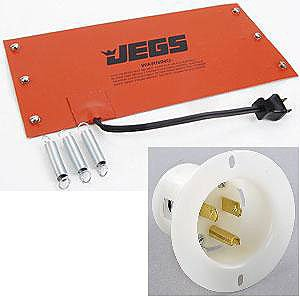 JEGS 23670K Oil System Heating Pad with 110V Recessed Outlet