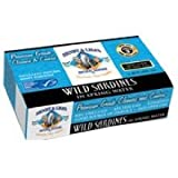 Henry and Lisas Wild Sardines in Spring Water, 4.25 Ounce - 12 per case.