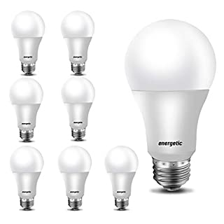 60W Equivalent, A19 LED Light Bulb, 5000K Daylight, E26 Medium Base, Non-Dimmable LED Light Bulb,750lm,UL Listed 8-Pack