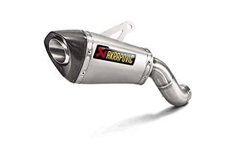 Akrapovic 17-18 Kawasaki ZR900ABS Slip-On Exhaust (Race/Titanium with Carbon End Cap) ()