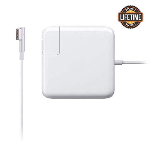 Mac Book Pro Charger, 60w Power Adapter Magsafe 1 L-Tip Adapter Charger Connector - Superior Heat Control - MacBook Pro 13-inch [Before Mid 2012] (White)