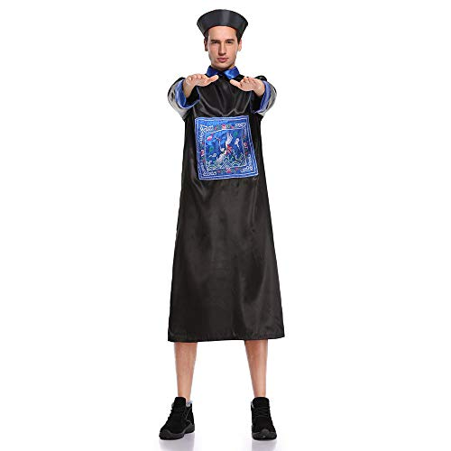 GACOSPLAY Chinese Qing Dynasty Zombie Costume, Horror