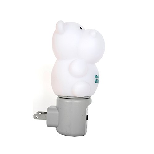WallMate Cool LED Night Light for Kids, Toddlers & Sleeping Baby - Wall Plug-In Outlet (Hippo) by MOBI (Image #4)