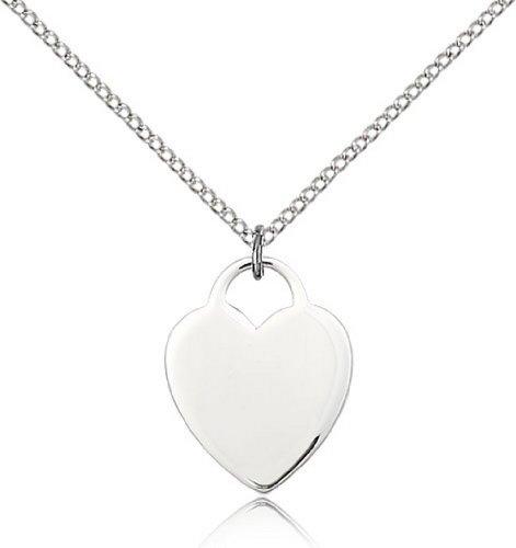 Icecarats Créatrice De Bijoux En Argent Sterling Pendentif Coeur 3/4 X 5/8 Pouces
